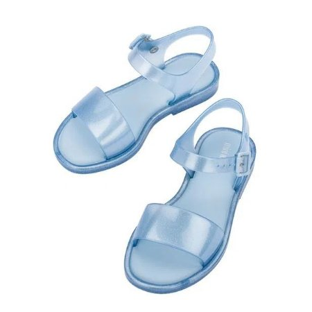 Sandália Mini Melissa Mar Sandal Azul Perolado