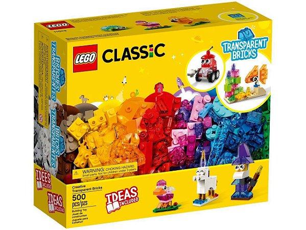 LEGO Classic Blocos Transperentes Criativos
