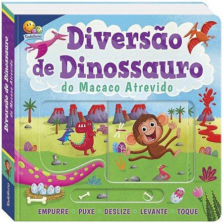 Livro Empurre, puxe... e muito mais! Diversão de Dinossauro