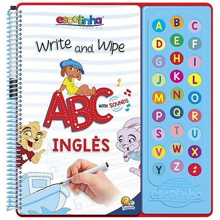 Livro Escute e Aprenda! Escreva e Apague ABC com Sons em Inglês