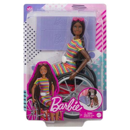 Boneca Barbie Fashionistas Na Cadeira De Rodas - Morena