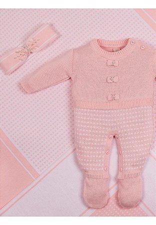 Conjunto Saída de Maternidade Rosa Laço 20009