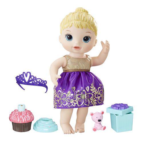 Boneca Baby Alive Festa Surpresa Hasbro - Loira