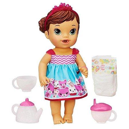 Boneca Baby Alive Hora do Chá Chazinho Mágico Hasbro - Morena