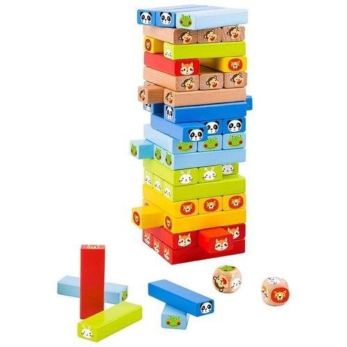 Jogo Jenga Animais - Tooky Toy - Brinquedo Educativo em Madeira