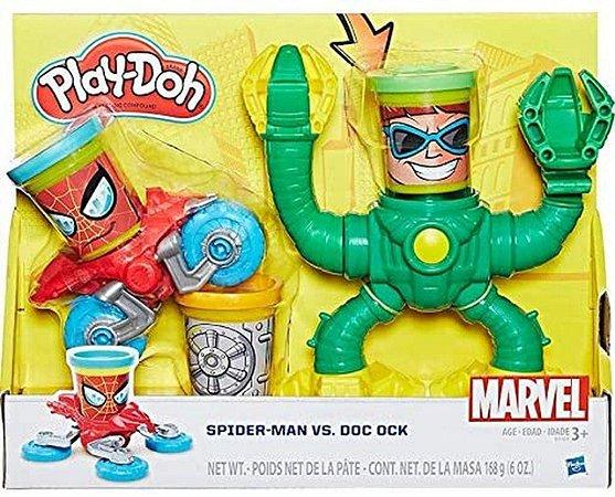 Massinha Play-Doh Marvel Spiderman vs Dr Octopus - B9364 Hasbro