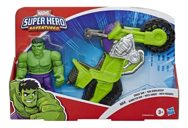 Boneco Hulk e Motocicleta
