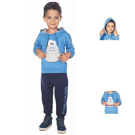 Conjunto de Moletom Infantil Blusão com Capuz - Have Fun 24034