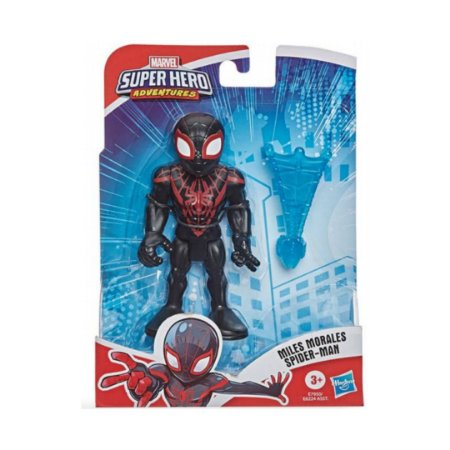 Boneco Homem Aranha Miles Morales Super Hero Adventures - Hasbro E6224