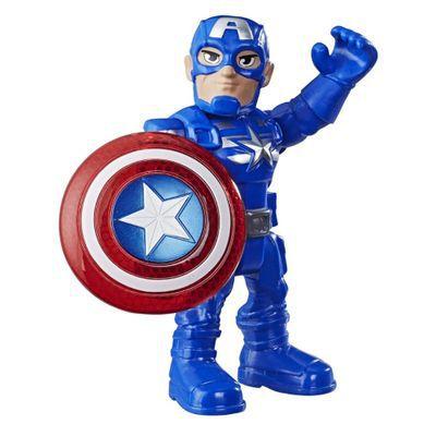 Boneco Capitão América Super Hero Adventures - Hasbro E6224