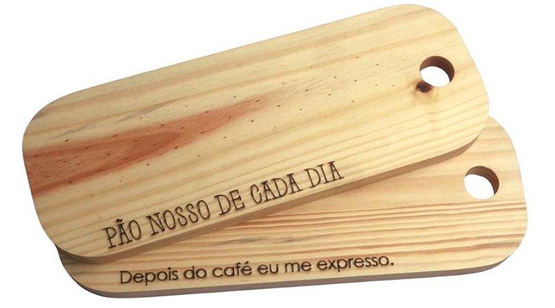 Kit 2 tábuas para servir em madeira pinus - mesa posta