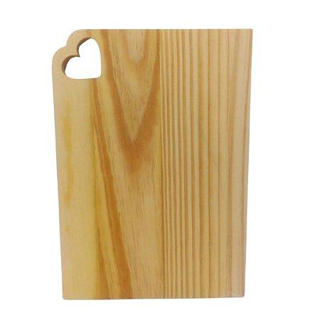 Tábua para servir em madeira pinus mesa posta quadrada