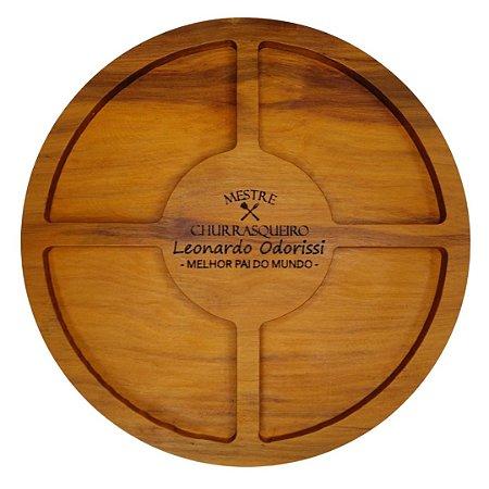 Petisqueira redonda para churrasco - Personalizada dia dos Pais