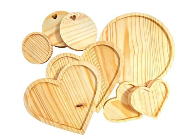 Kit 09 mesa posta madeira pinus - 8 unidades