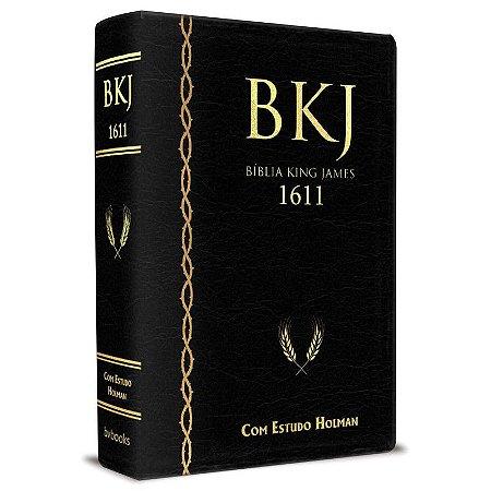 Bíblia de Estudo King James 1611 (Luxo Preta) Com estudos Holman