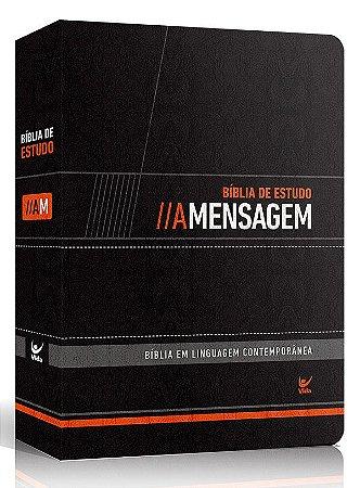 Bíblia de Estudo - A Mensagem – Capa Luxo Preta