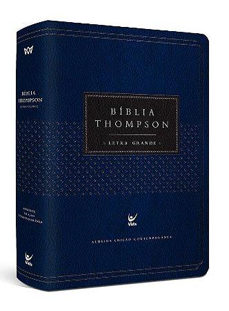 Bíblia Thompson - Letra Grande - Azul e Preta