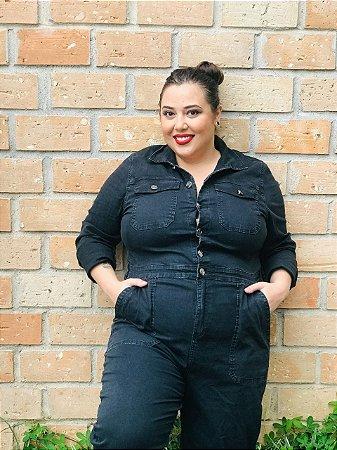 Macacão Jeans preto
