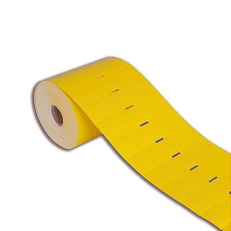 Etiqueta de Gôndola 80x30mm Couché adesivo Amarela para Zebra Argox Elgin - Rolo com 1000 (30m)