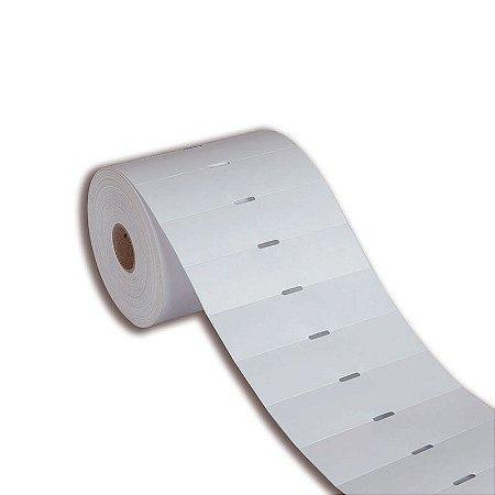 Etiqueta de Gôndola 80x30mm Couché adesivo Branca para Zebra Argox Elgin - Rolo com 1000 (30m)