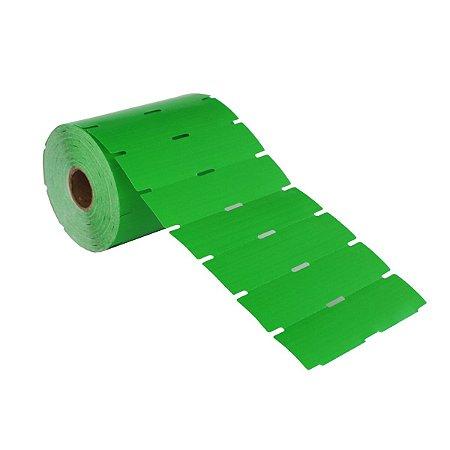 Etiqueta de Gôndola 105x40mm Couché adesivo Verde para Zebra Argox Elgin - Rolo com 750 (30m)