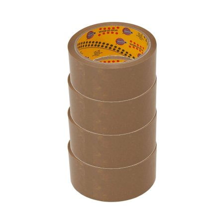 Fita adesiva polipropileno 45mmx45m Marrom Eurocel - Pacote 4 rolos