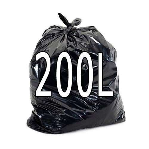 Saco de lixo preto 200 litros - 100 unidades