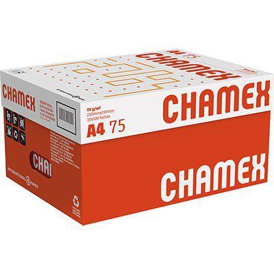 Papel sulfite A4 75g 210mm x 297mm Chamex - Caixa com 10 resmas