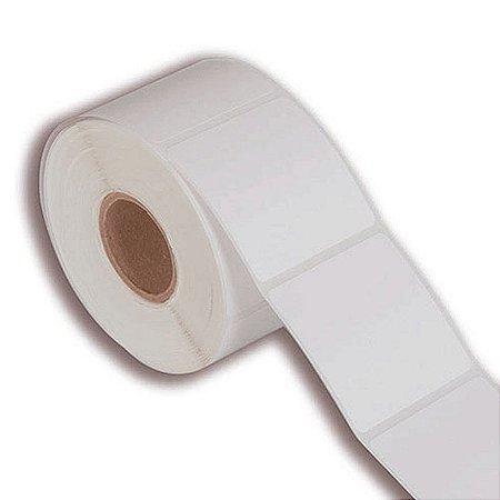 Etiqueta 100x100mm em BOPP adesivo para impressora térmica industrial - Rolo com 582 (60m) Tubete 3 polegadas