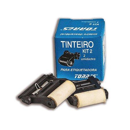 Kit 2 Tinteiro para etiquetadora Torres Biônica
