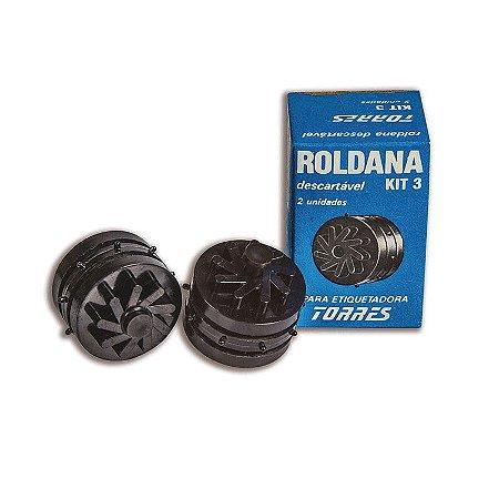 Kit 3 Roldana para etiquetadora Torres Biônica
