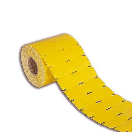 Etiqueta de Gôndola 105x30mm Couché cartão Amarela para Zebra Argox Elgin - Rolo com 1000 (30m)