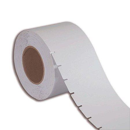 Etiqueta de Gôndola 105x30mm em Couché cartão Branca para impressora térmica industrial - Rolo com 2000 (60m) Tubete 3 polegadas
