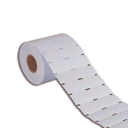Etiqueta de Gôndola 105x40mm em Couché cartão Branca para Zebra Argox Elgin - Rolo com 750 (30m)