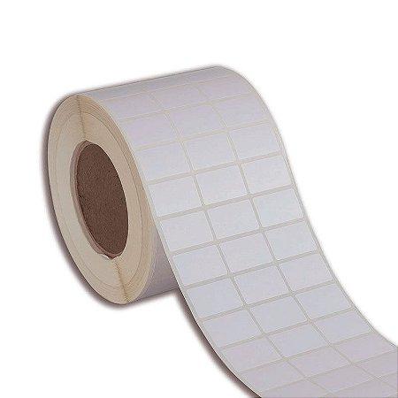 Etiqueta 33x17mm (3 colunas) Couché adesivo para impressora térmica industrial - Rolo com 9000 (60m) Tubete 3 polegadas