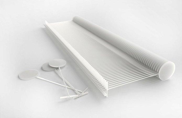 Pino plástico FIX PIN 100 Tamanho 25mm Cor Neutro - Caixa 5000 Unidades