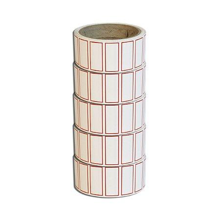 Etiqueta 40x20mm adesiva borda vermelha Multiuso preço para escrever - 5 rolos