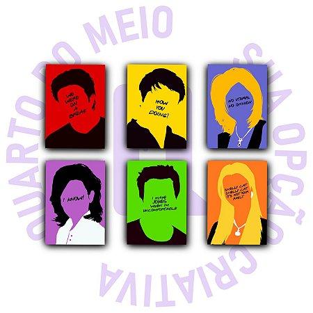 Placas Decorativas Friends - Personagens Minimalistas Com Frases