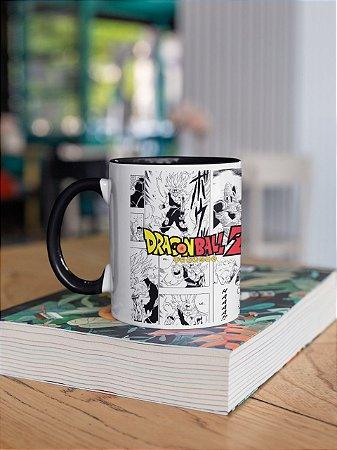 Caneca Porcelana Dragon Ball Z Estilo Mangá