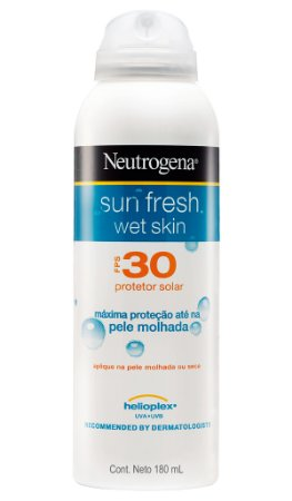 Sun Fresh Wet Skin Aerosol Protetor Solar Neutrogena - FPS 30 180ml