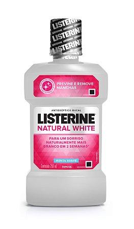 Enxaguatório Bucal Natural White Listerine  - 250 mL