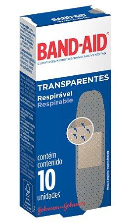 Band Aid Curativo Transparente - 10 Unidades