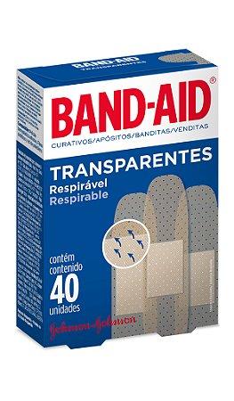 Band Aid Curativo Transparente - 40 Unidades