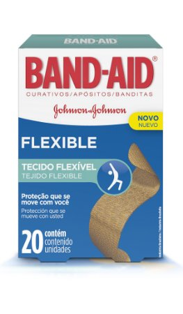 Band Aid Curativo Flexible - 20 Unidades