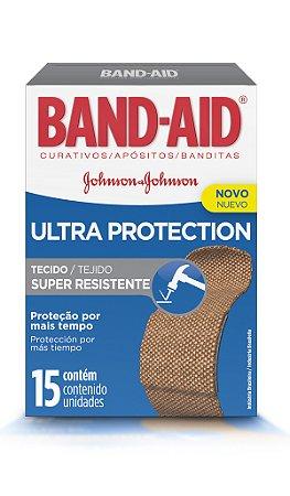 Band Aid Curativo Ultra Protection - 15 Unidades