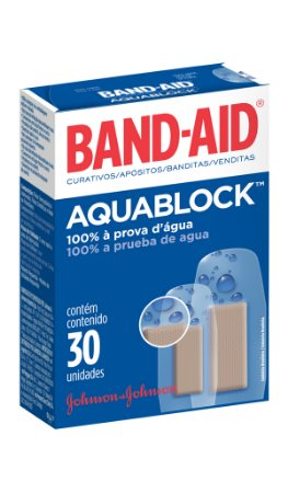 Band Aid Curativo AquaBlock - 30 Unidades