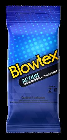 Preservativo Blowtex Action Texturizado - 6 Unidades