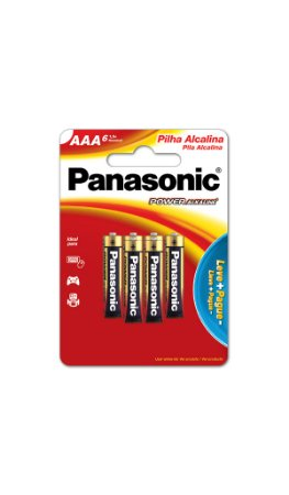 Panasonic Pilha Alcalina Palito AAA - 6 Unidades