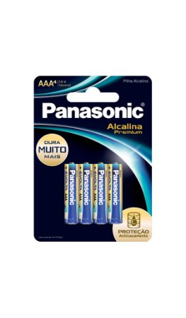 Panasonic Pilha Alcalina Premium AAA -  4 Unidades