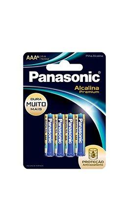 Panasonic Pilha Alcalina Premium AAA -  6 Unidades